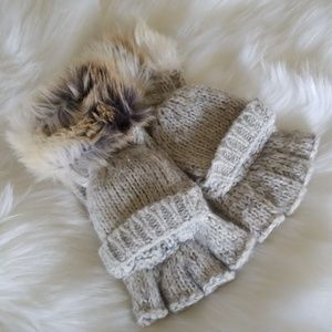 Aerie fuzzy mittens or fingerless gloves